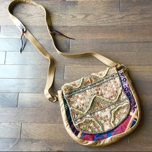 FREE PEOPLE BEADED CROSS BODY BAG
